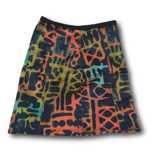 Bold Graphic Silence & Noise Multi-Colored Skirt